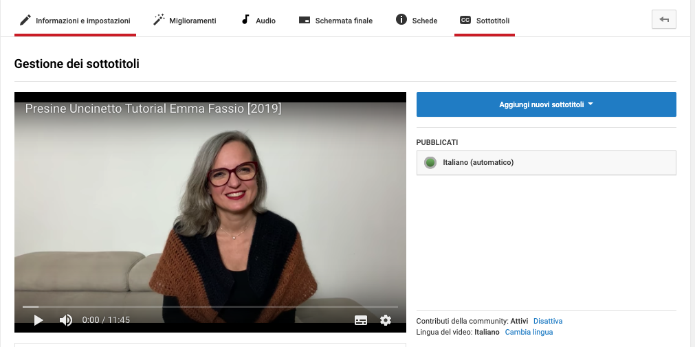 Seo in Youtube sottotitoli
